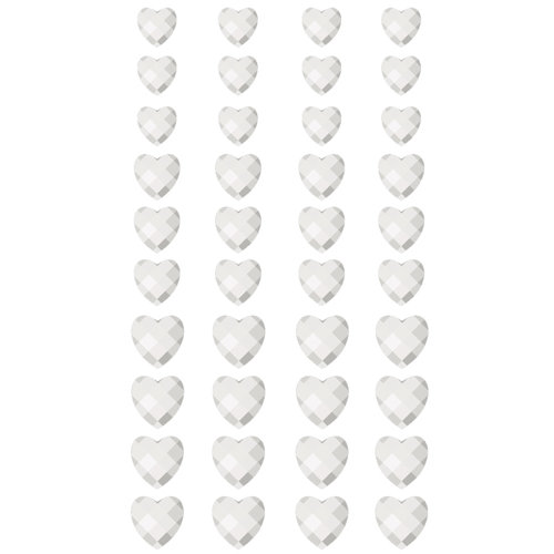 Prima - Say It In Crystals Collection - Self Adhesive Jewel Art - Bling - Crystals Hearts - Mix 4