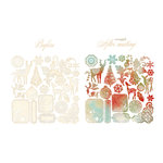 Prima - North Country Collection - Christmas - Resist Canvas - Shapes