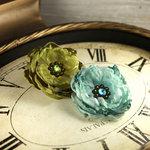 Prima - Fleur De Lys Collection - Fabric Flower Embellishments - Spring