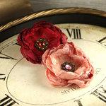 Prima - Fleur De Lys Collection - Fabric Flower Embellishments - Chorale