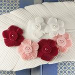 Prima - Harlow Collection - Pleated Fabric Flower Embellishments - Eve