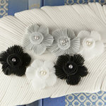 Prima - Harlow Collection - Pleated Fabric Flower Embellishments - Clara