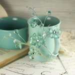 Prima - Crystal Palace Collection - Vine Embellishments - Seamist
