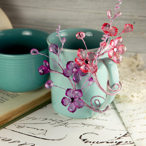 Prima - Crystal Palace Collection - Vine Embellishments - Hyacinth