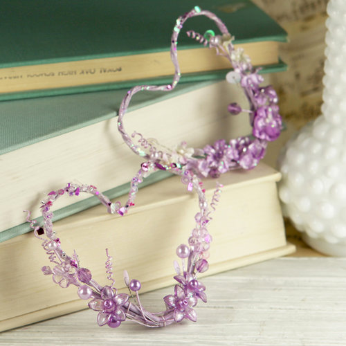 Prima - Amore Collection - Heart Embellishments - Violet