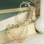 Prima - Amore Collection - Heart Embellishments - Topaz