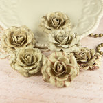 Prima - Parchment Petals Collection - Flower Embellishments - Scroll