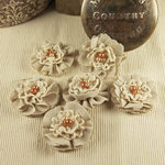 Prima - Elysa Collection - Fabric Flower Embellishments - Wheat