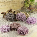 Prima - Powder Puffs Collection - Fabric Flower Embellishments - Colette