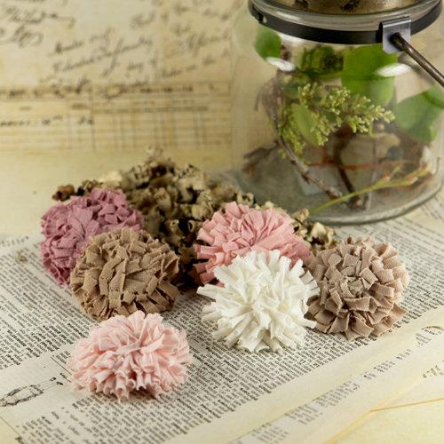 Prima - Powder Puffs Collection - Fabric Flower Embellishments - Beth
