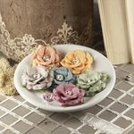 Prima - Solitaire Collection - Fabric Flower Embellishments - Pure White