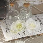 Prima - Nicole Collection - Fabric Flower Embellishments - Cream