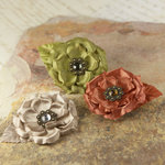 Prima - Miss Kate Collection - Fabric Flower Embellishments - Coppertone