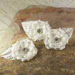 Prima - Miss Kate Collection - Fabric Flower Embellishments - Ivory