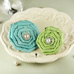 Prima - Coiled Pearls Collection - Fabric Flower Embellishments - Grace