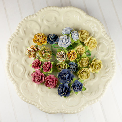 Prima - Avon Rose Collection - Mulberry Flower Embellishments - Londonerry