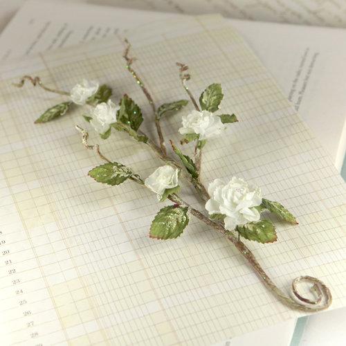 Prima - Bretton Vines Collection - Flower Embellishments - Purity