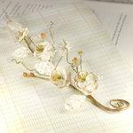 Prima - Bretton Vines Collection - Flower Embellishments - Parchment