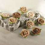 Prima - Sherwood Rose Collection - Mulberry Flower Embellishments - Partridge