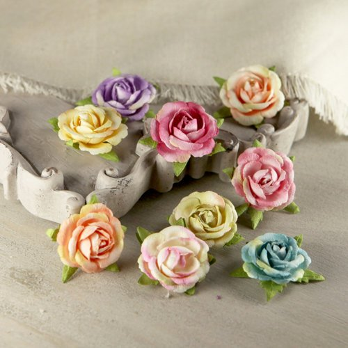 Prima - Sherwood Rose Collection - Mulberry Flower Embellishments - Cottage
