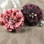 Prima - Carlotta Collection - Fabric Flower Embellishments - Winery