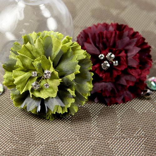 Prima - Carlotta Collection - Fabric Flower Embellishments - Parrot