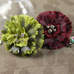 Prima - Carlotta Collection - Fabric Flower Embellishments - Parrot