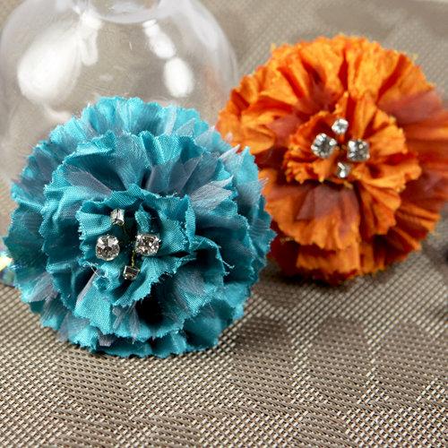 Prima - Carlotta Collection - Fabric Flower Embellishments - Tropics