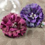 Prima - Carlotta Collection - Fabric Flower Embellishments - Royale