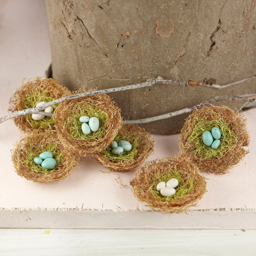 Prima - Cradle Collection - Bird Nest Embellishments - Robin