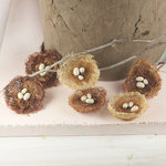 Prima - Cradle Collection - Bird Nest Embellishments - Sparrow