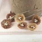 Prima - Cradle Collection - Bird Nest Embellishments - Sparrow
