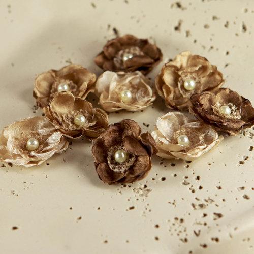 Prima - Bristo Blooms Collection - Fabric Flower Embellishments - Woodstock