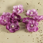 Prima - Bristo Blooms Collection - Fabric Flower Embellishments - Violet