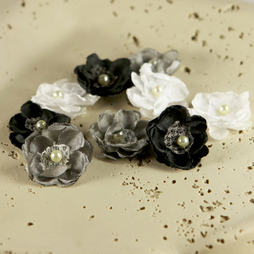 Prima - Bristo Blooms Collection - Fabric Flower Embellishments - Starry Night