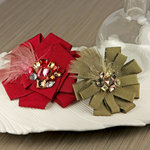Prima - Gemini Collection - Fabric Flower Embellishments - Parlor