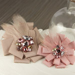 Prima - Gemini Collection - Fabric Flower Embellishments - Couture