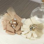 Prima - Gemini Collection - Fabric Flower Embellishments - Latte