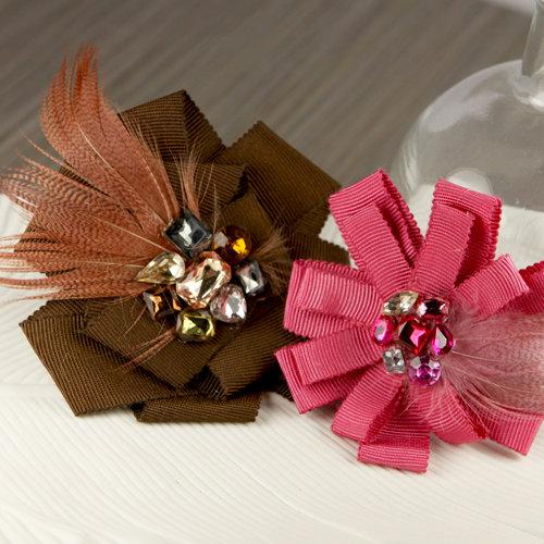 Prima - Gemini Collection - Fabric Flower Embellishments - Borgia