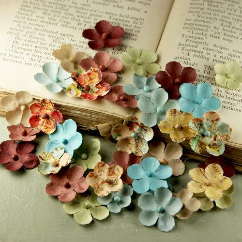 Prima - Flower Market Collection - Mulberry Flower Embellishments - Romantique