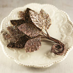 Prima - Aglow Collection - Leaves Embellishments - Mica