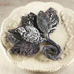 Prima - Aglow Collection - Leaves Embellishments - Black Magic