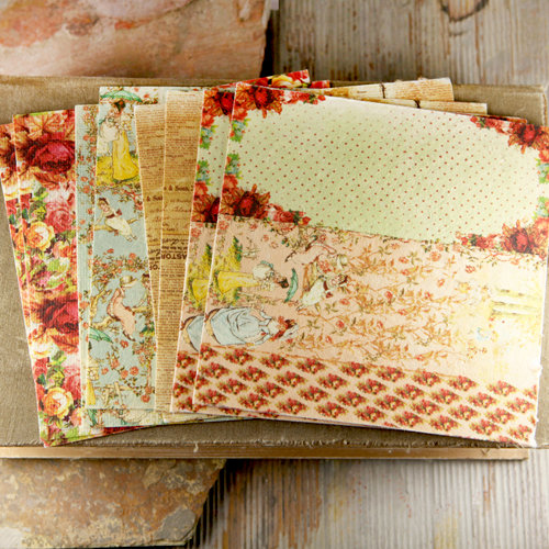 Prima - Romantique Collection - 6 x 6 Mulberry Paper Pack