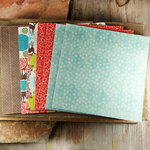 Prima - North Country Collection - Christmas - 6 x 6 Mulberry Paper Pack
