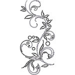 Prima - Say It In Crystals and Pearls Collection - Self Adhesive Jewel Art - Bling - Swirl - Almanac
