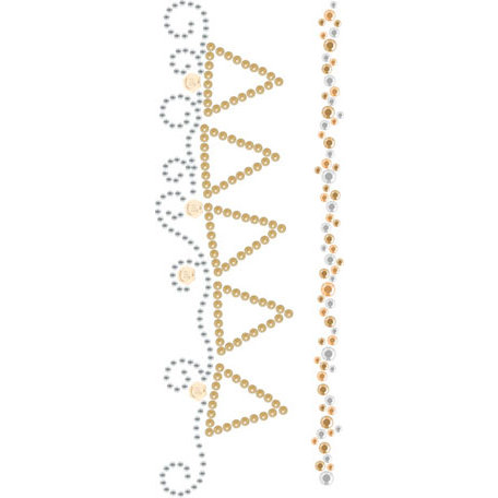 Prima - Say It In Crystals and Pearls Collection - Self Adhesive Jewel Art - Bling - Songbird - Mix 1