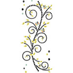 Prima - Say It In Crystals Collection - Self Adhesive Jewel Art - Bling - Doodle-Deux - Mix 1