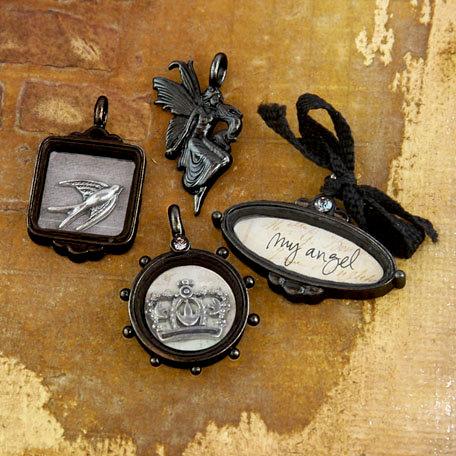 Prima - Tiny Treasures Collection - Precious Metal Embellishments - Nature Garden