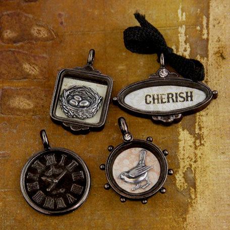 Prima - Tiny Treasures Collection - Precious Metal Embellishments - Almanac