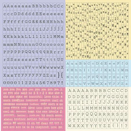 Prima - Meadow Lark Collection - Cardstock Stickers - Alphabet - Typeset